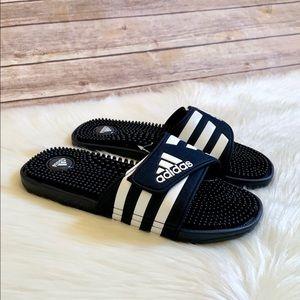 Adidas Navy Adissage Slides